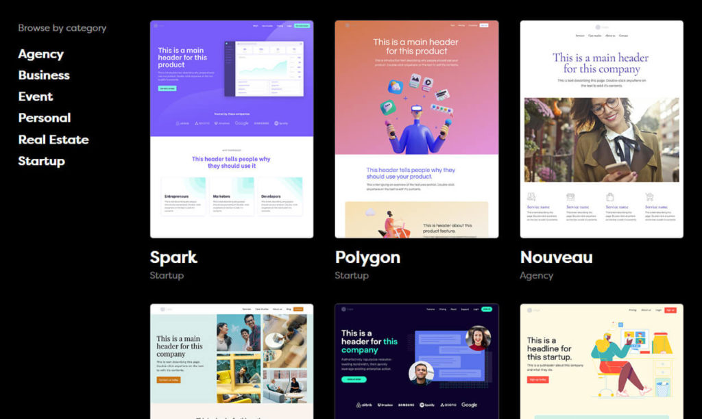 Makeswift Landing Page Builder Templates