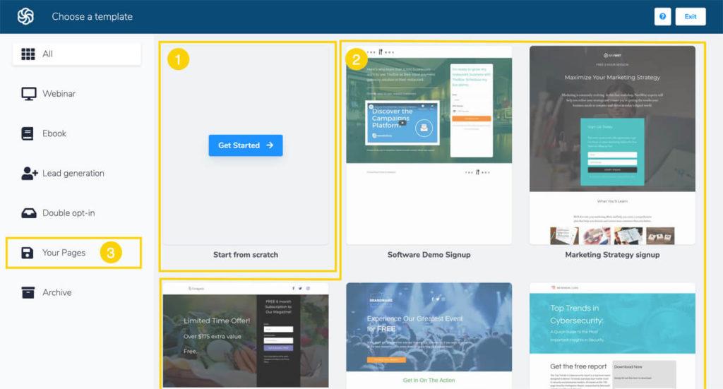 Sendinblue Landing Page Builder Templates
