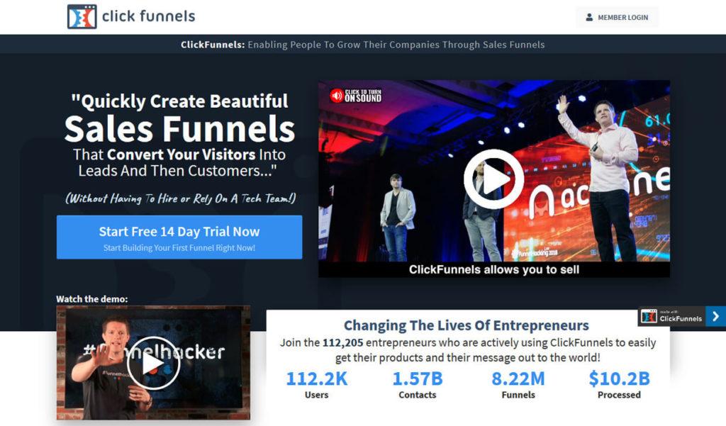 Best Sales Funnel Builder Software ClickFunnels
