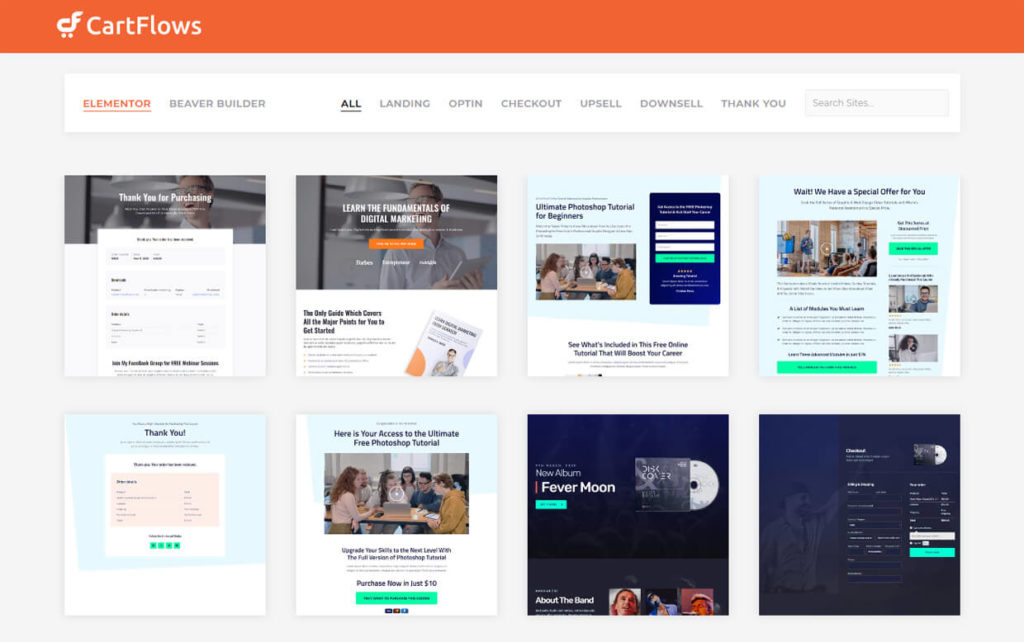 CartFlows Sales Funnel Builder Software Templates New