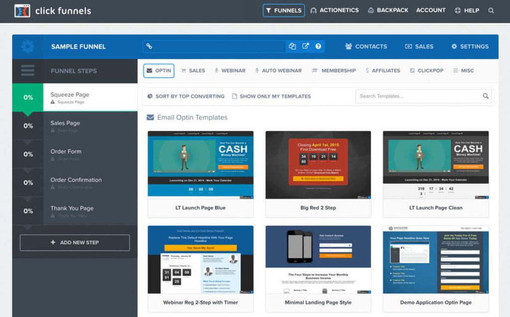 ClickFunnels Sales Funnel Builder Software Templates