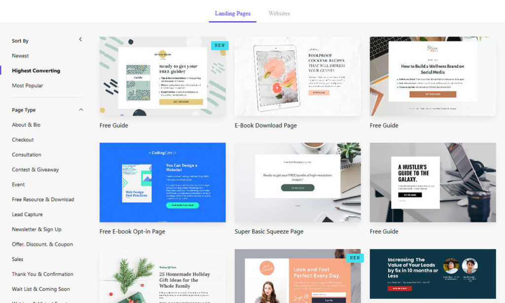 Leadpages Sales Funnel Landing Page Builder Software Templates