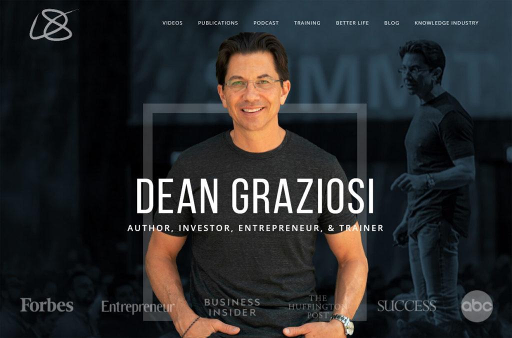 Dean Graziosi Sales Funnel User Homepage