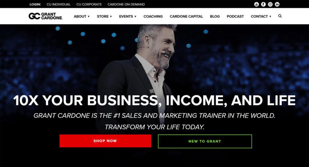 Grant Cardone Entrepreneur Homepage