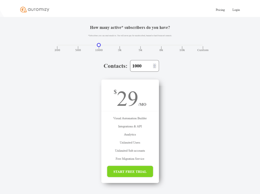 Automizy Pricing