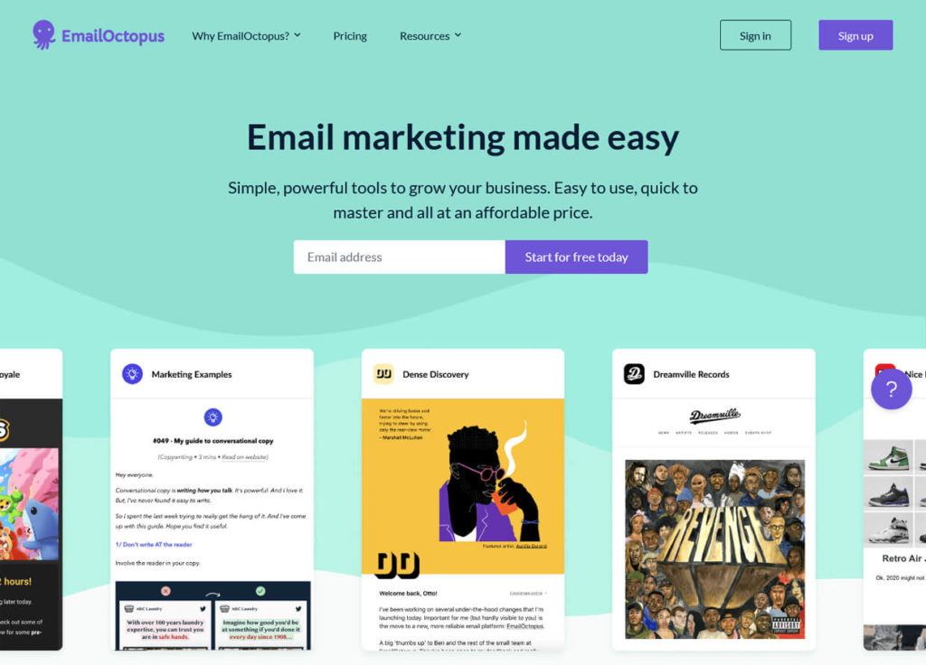 Best Email Marketing Software EmailOctopus