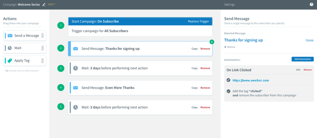 Email Automation Software AWeber