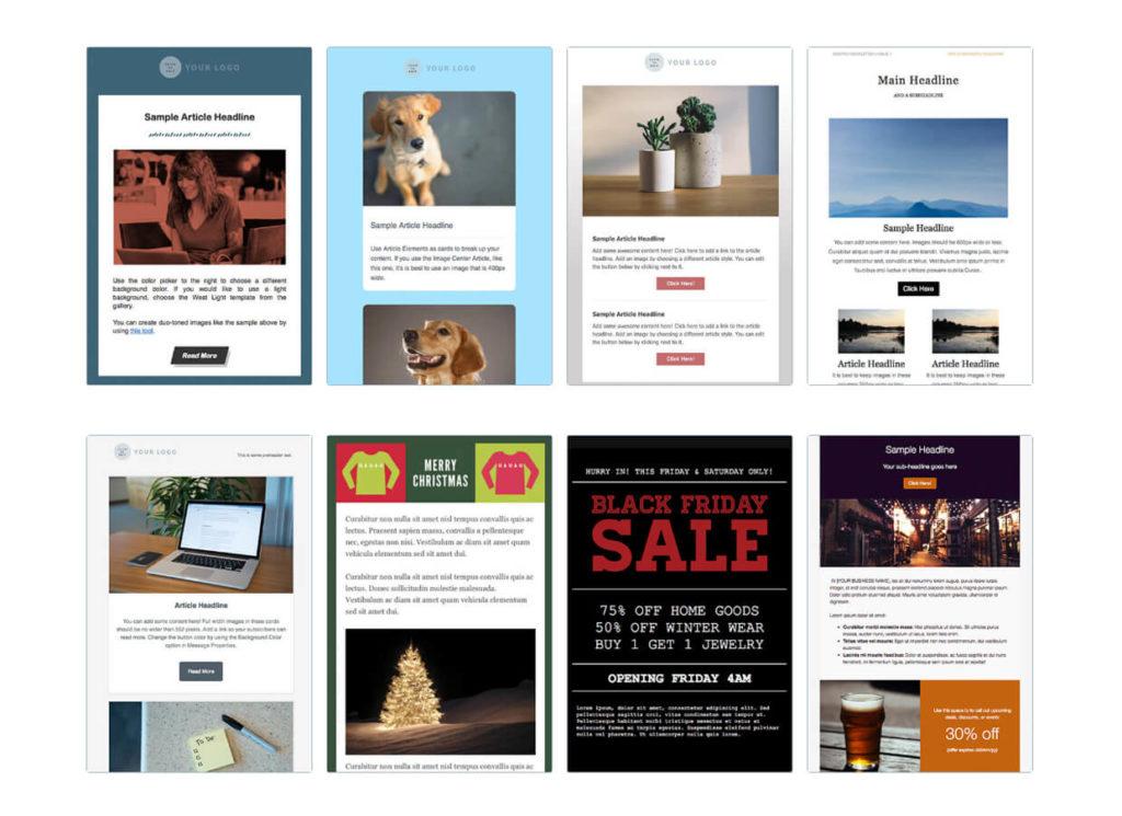 Email Marketing Templates AWeber