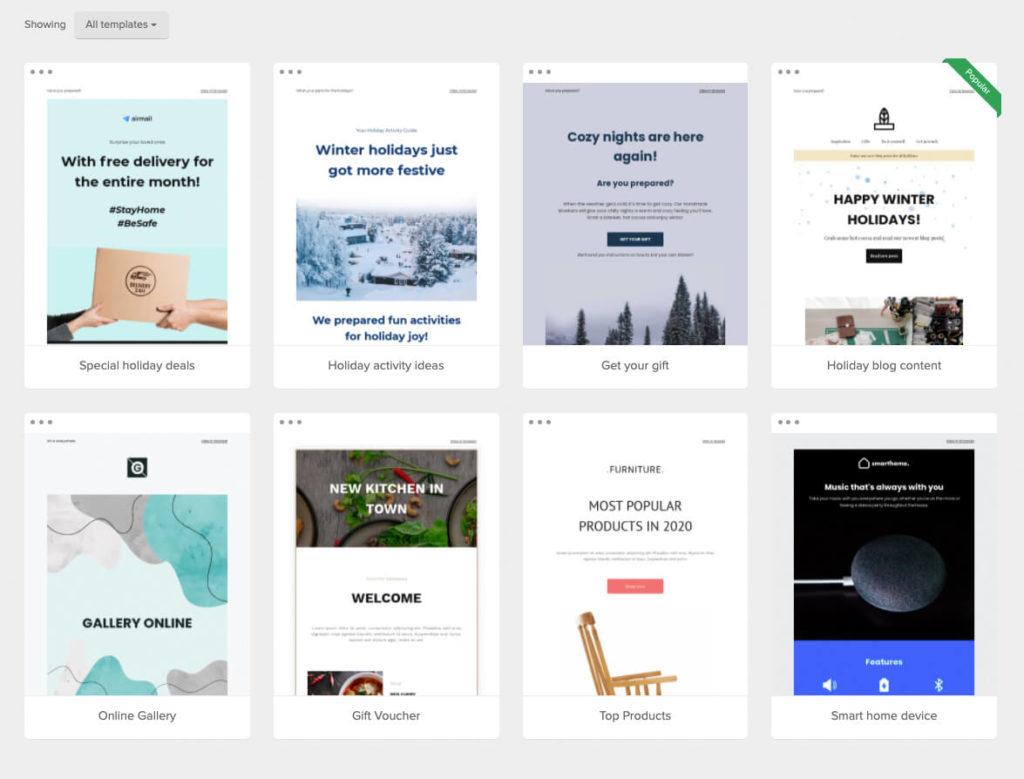 Email Marketing Templates MailerLite