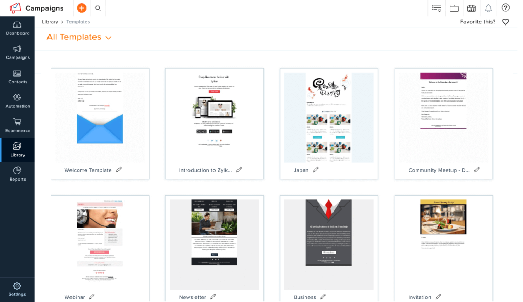 Email Marketing Templates Zoho Campaigns