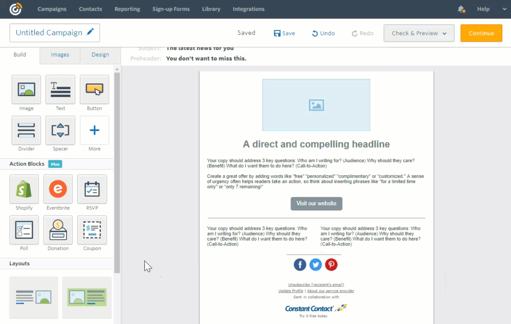 Email Template Builder Software Constant Contact