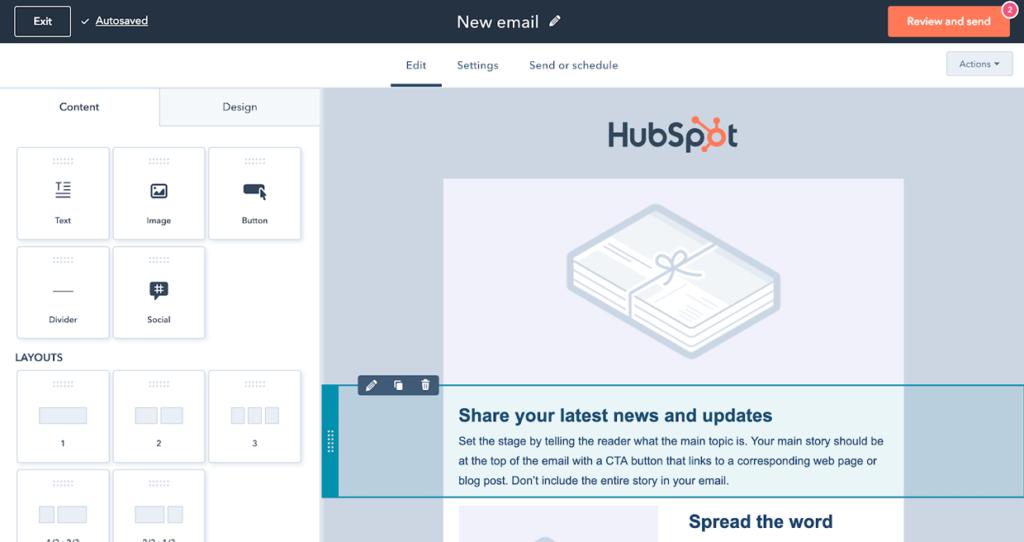 Email Template Builder Software HubSpot
