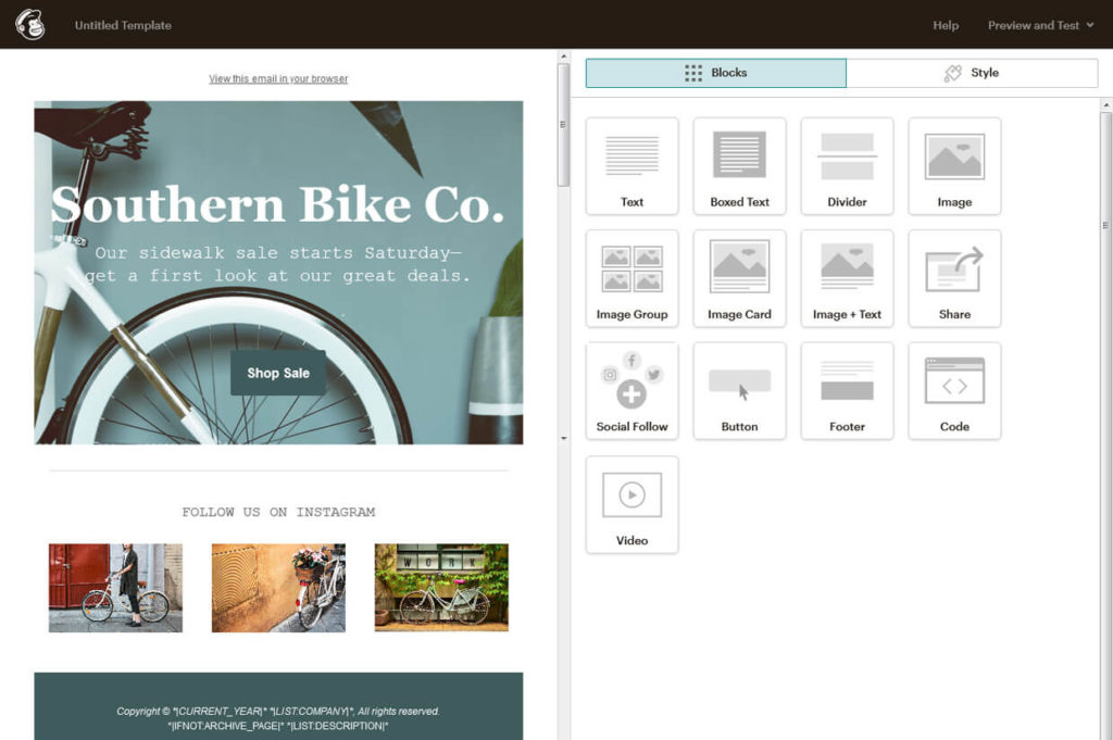 Email Template Builder Software Mailchimp