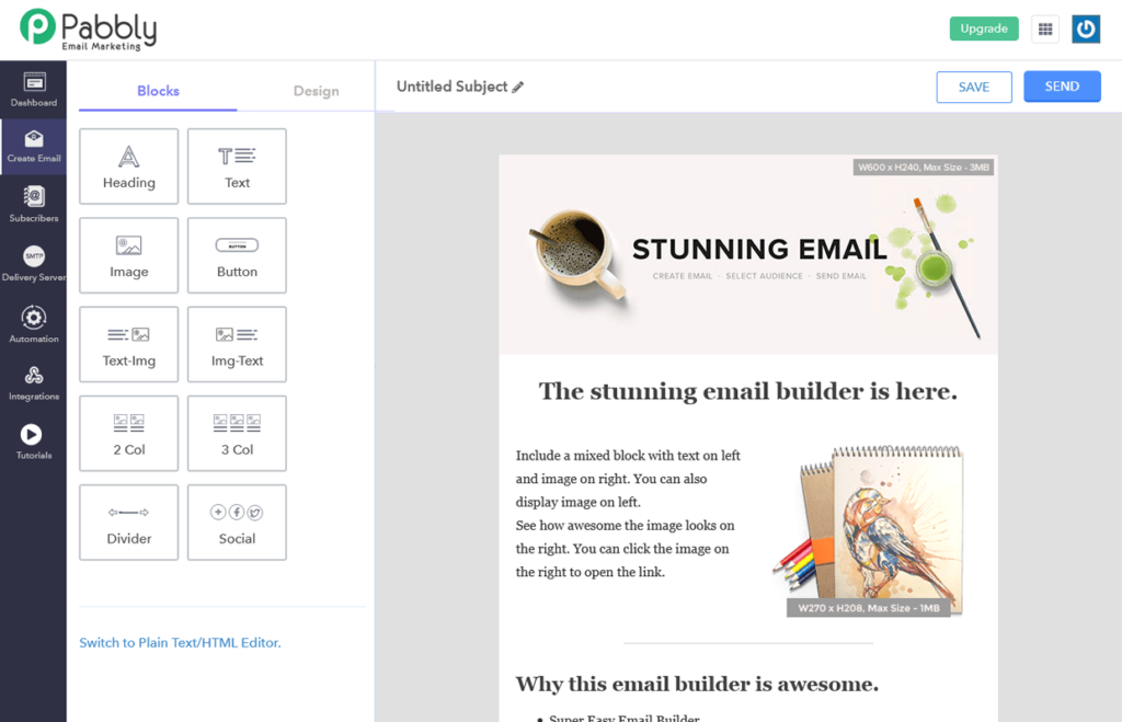 Email Template Builder Software Pabbly